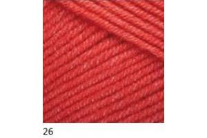Jeans 26 - červená