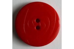 Gombík plastový - Červený  Ø 18mm - Ornament