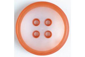 Gombík plastový - štvordierkový, farebný - 18mm - Rôzne farby
