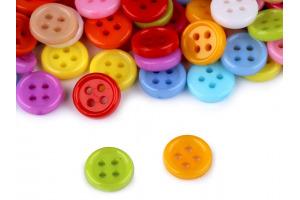 Gombík plastový - Farebný mix Ø 8,5 mm