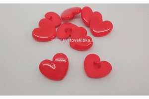 Gombík plastový - Srdce - Ø16 mm
