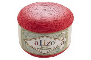 Bella ombré batik 7404 - červeno-ružové odtiene
