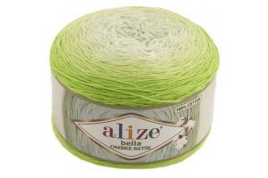 Bella ombré batik 7412 - zelené odtiene